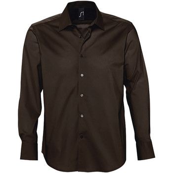 Textiel Heren Overhemden lange mouwen Sols BRIGHTON STRECH Marrón