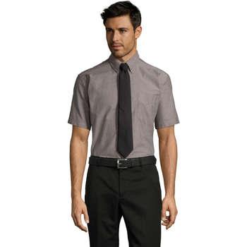 Textiel Heren Overhemden korte mouwen Sols BRISBANE ORIGINAL WORK Plata