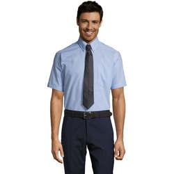 Textiel Heren Overhemden korte mouwen Sols BRISBANE ORIGINAL WORK Azul