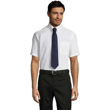 Textiel Heren Overhemden korte mouwen Sols BRISBANE ORIGINAL WORK Blanco