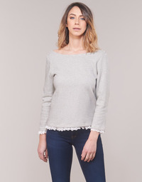 Textiel Dames T-shirts met lange mouwen Betty London KARA Wit / Marine