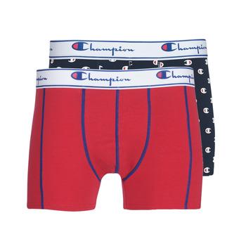 Ondergoed Heren Boxershorts Champion MIX UNI + IMPRIME X2 Zwart / Rood