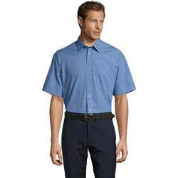 Textiel Heren Overhemden korte mouwen Sols BRISTOL MODERN WORK Azul