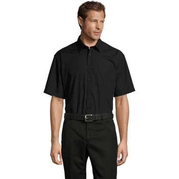 Textiel Heren Overhemden korte mouwen Sols BRISTOL MODERN WORK Negro
