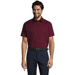 Textiel Heren Overhemden korte mouwen Sols BROADWAY STRECH MODERN Violeta