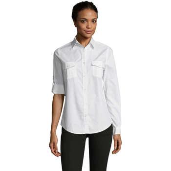Textiel Dames Overhemden Sols BURMA MODERN STYLE Blanco