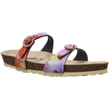 Schoenen Dames Leren slippers Mephisto Norie Meerkleurig roze leer