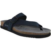 Schoenen Heren Leren slippers Mephisto NIELS Marineblauw nubuck