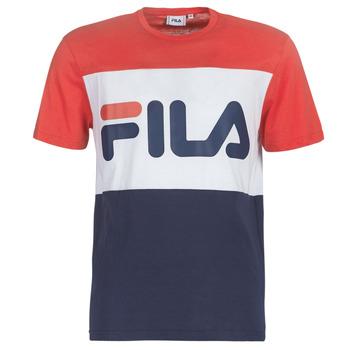Textiel Heren T-shirts korte mouwen Fila DAY TEE Marine / Rood / Wit