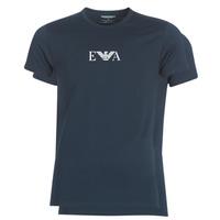 Textiel Heren T-shirts korte mouwen Emporio Armani CC715-111267-27435 Marine