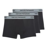 Ondergoed Heren Boxershorts Emporio Armani CC717-PACK DE 3 Zwart