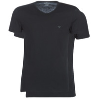 Textiel Heren T-shirts korte mouwen Emporio Armani CC722-111648-07320 Zwart