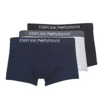 Textiel Heren Boxershorts Emporio Armani CC722-111610-94235 Marine / Grijs / Zwart