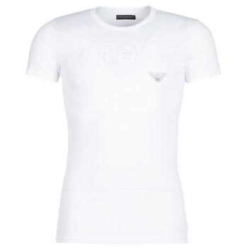 Textiel Heren T-shirts korte mouwen Emporio Armani CC716-111035-00010 Wit
