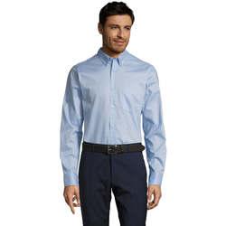 Textiel Heren Overhemden lange mouwen Sols BUSSINES MODERN MEN Azul