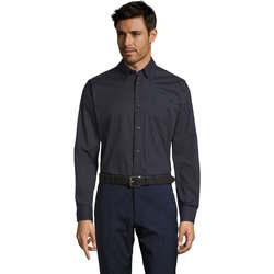 Textiel Heren Overhemden lange mouwen Sols BEL-AIR TWILL MEN Azul