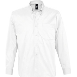 Textiel Heren Overhemden lange mouwen Sols BEL-AIR TWILL MEN Blanco