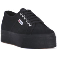 Schoenen Dames Lage sneakers Superga COTU FULL BLACK UP AND DOWN Nero