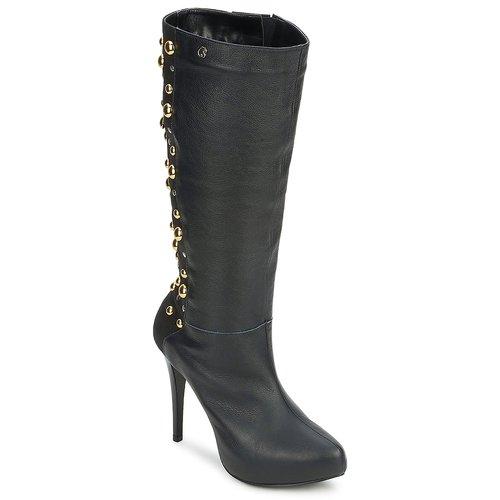 Schoenen Dames Hoge laarzen Carmen Steffens 9112399001 Zwart