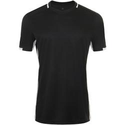 Textiel Heren T-shirts korte mouwen Sols CLASSICO SPORT Negro