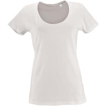 Textiel Dames T-shirts korte mouwen Sols METROPOLITAN CITY GIRL Blanco