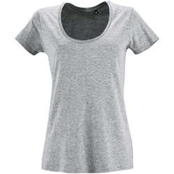 Textiel Dames T-shirts korte mouwen Sols METROPOLITAN CITY GIRL Gris