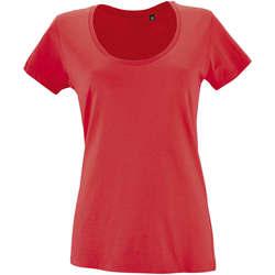 Textiel Dames T-shirts korte mouwen Sols METROPOLITAN CITY GIRL Rojo