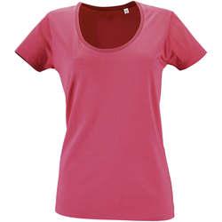 Textiel Dames T-shirts korte mouwen Sols METROPOLITAN CITY GIRL Rosa