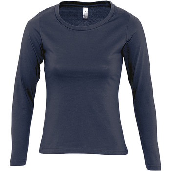 Textiel Dames T-shirts met lange mouwen Sols MAJESTIC COLORS GIRL Azul