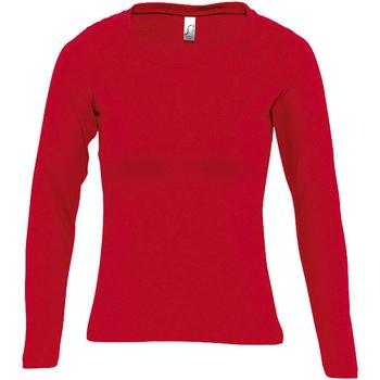 Textiel Dames T-shirts met lange mouwen Sols MAJESTIC COLORS GIRL Rojo