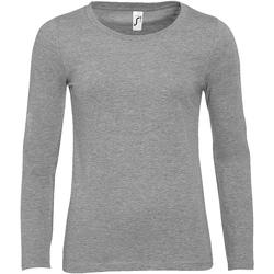 Textiel Dames T-shirts met lange mouwen Sols MAJESTIC COLORS GIRL Gris