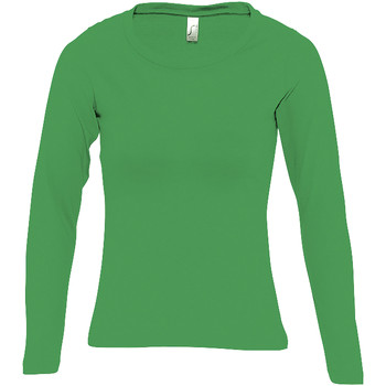 Textiel Dames T-shirts met lange mouwen Sols MAJESTIC COLORS GIRL Verde