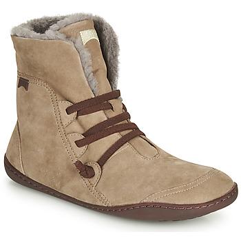 Schoenen Dames Laarzen Camper PEU CAMI Beige