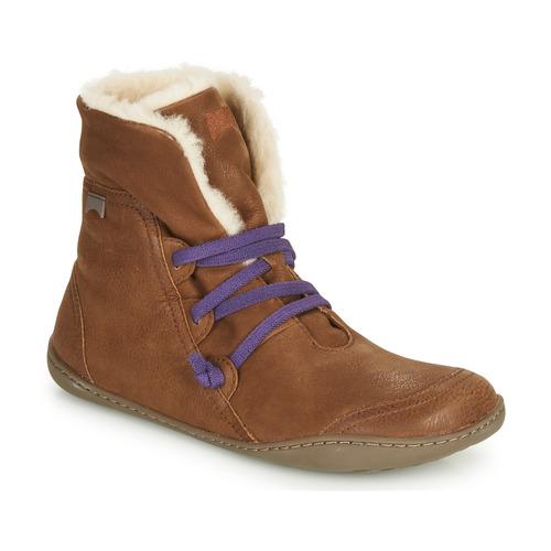 Schoenen Dames Laarzen Camper PEU CAMI Bruin