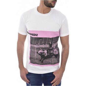Textiel Heren T-shirts korte mouwen Dsquared S71GD0713 Wit