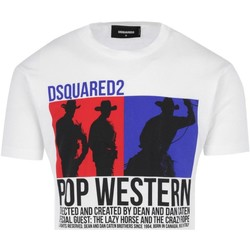 Textiel Heren T-shirts korte mouwen Dsquared S71GD0720 Wit
