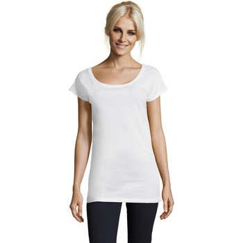 Textiel Dames T-shirts korte mouwen Sols MARYLIN STYLE KIMONO Blanco