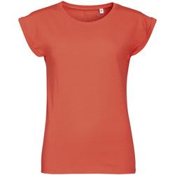 Textiel Dames T-shirts korte mouwen Sols MELBA TROPICAL GIRL Rosa