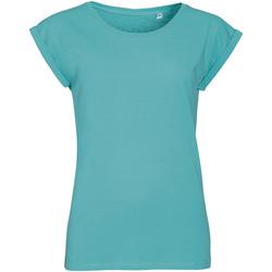 Textiel Dames T-shirts korte mouwen Sols MELBA TROPICAL GIRL Azul