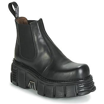 Schoenen Dames Laarzen New Rock M-1554-C1 Zwart