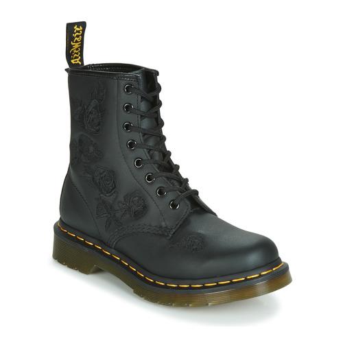 Schoenen Dames Laarzen Dr Martens 1460 VONDA MONO SOFTY T Zwart
