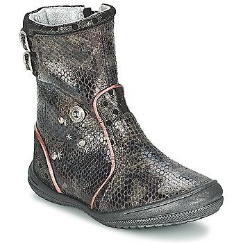 Schoenen Meisjes Hoge laarzen Catimini CLABAUD Brons / Zwart
