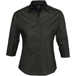 Textiel Dames Overhemden Sols EFFECT ELEGANT Negro
