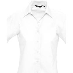Textiel Dames Overhemden Sols ELITE OXFORD Blanco