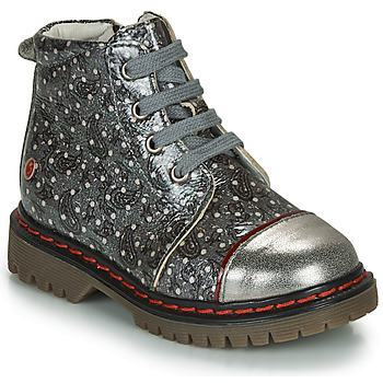 Schoenen Meisjes Laarzen GBB NEVA Grijs / Metaal