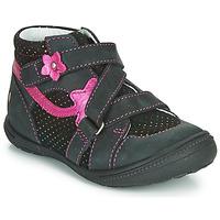 Schoenen Meisjes Laarzen GBB NINA Zwart / Roze