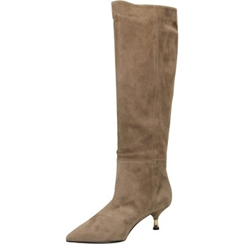 Schoenen Dames Hoge laarzen Giampaolo Viozzi ARIA CAMOSCIO rosso-rosso