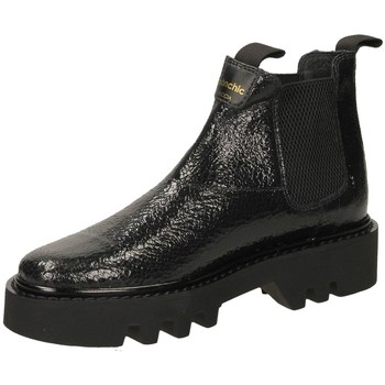 Schoenen Dames Enkellaarzen Panchic ROCCIA BEATLES CRACK black-nero