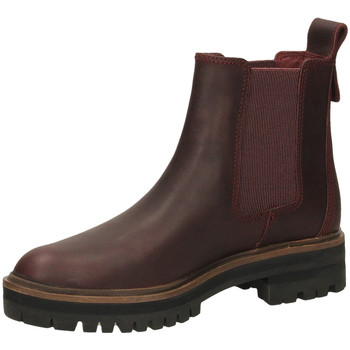 Schoenen Dames Enkellaarzen Timberland LONDON QUARE CHELSE dkpor-bordeaux