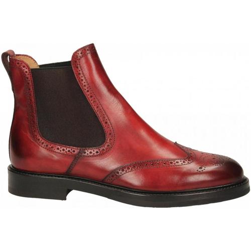 Schoenen Dames Enkellaarzen Brecos CAPRI rosso-rosso